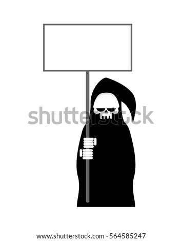 grim reaper with empty