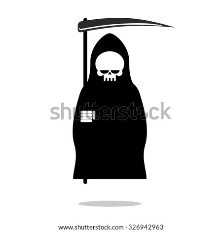 grim reaper with scythe death