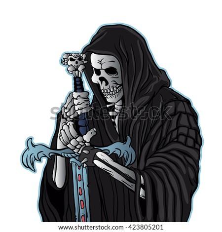 grim reaper with sword
