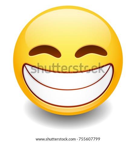 grin expression emoji smiley