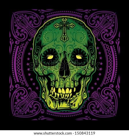 Grinning Sugar Skull Voodoo