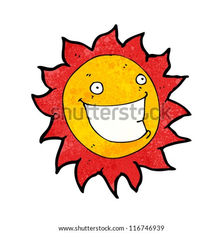 grinning sun cartoon character