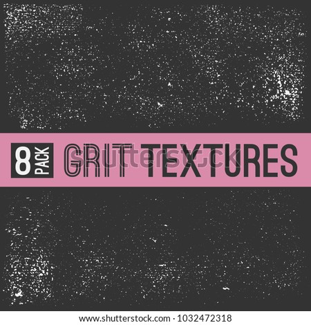 Grit textures. Grunge abstract vector elements.