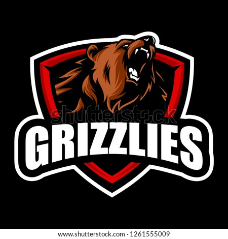 Grizzly mascot vector