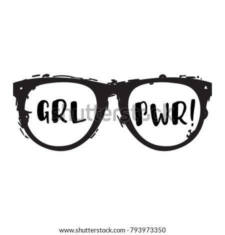 grl pwr girl power trendy hand