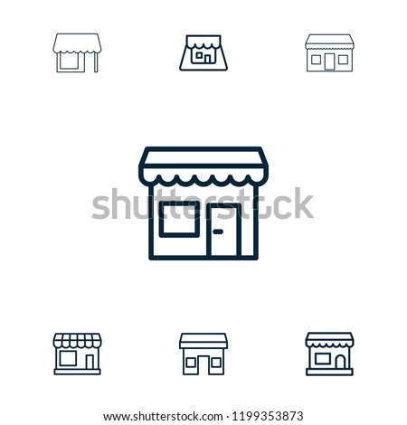 grocery icon collection of 7