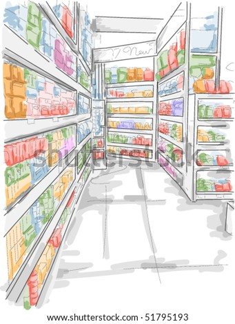 Grocery Store - Vector