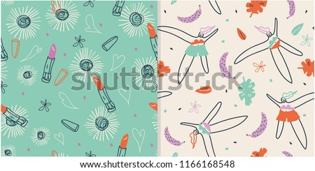 Groovy patterns for girls.