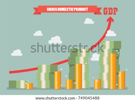 Gross domestic product. Economic growth concept