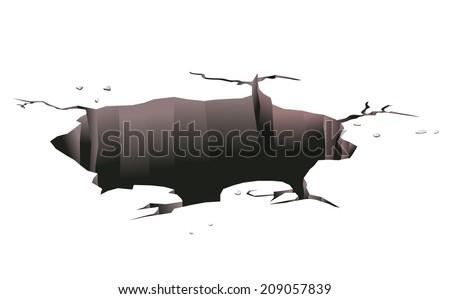 Ground hole on white background Stock photo ©
