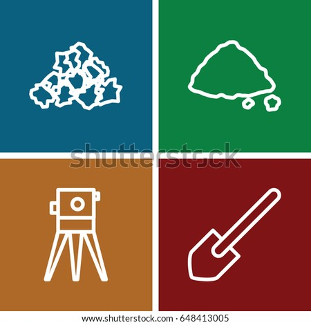 ground icons set set of 4