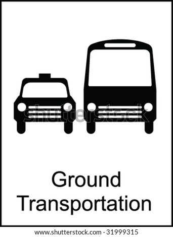 Ground Transportation Public Information Sign