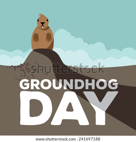 groundhog day design eps 10