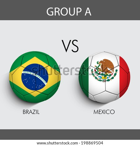 group a match brazil v s mexico