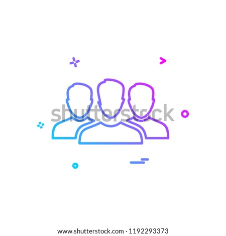Group avatar icon design vector