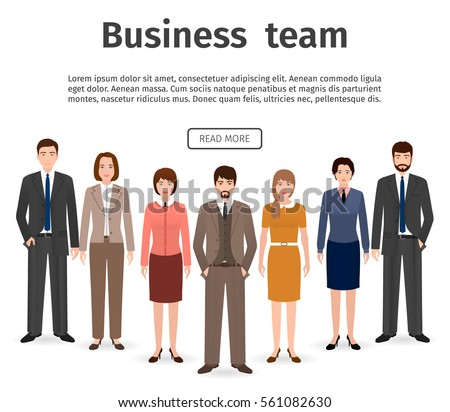 group business team flat men