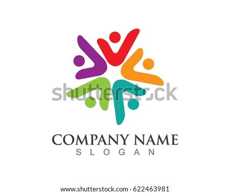 Group community people logos