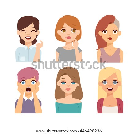 group girls face nationality
