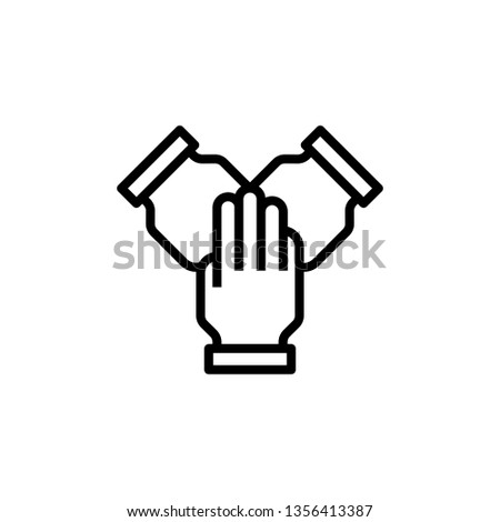 Group icon. Group of humans sign. Team work symbol. - Vector illustration