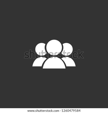 group icon vector. group sign on black background. group icon for web and app