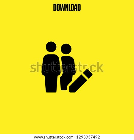 group icon vector. group vector graphic illustration