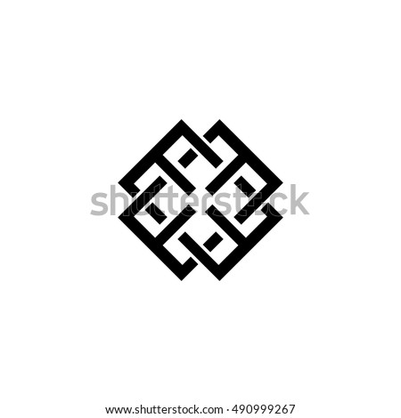 Group of abstract letters E symbol logo design. Minimalist design