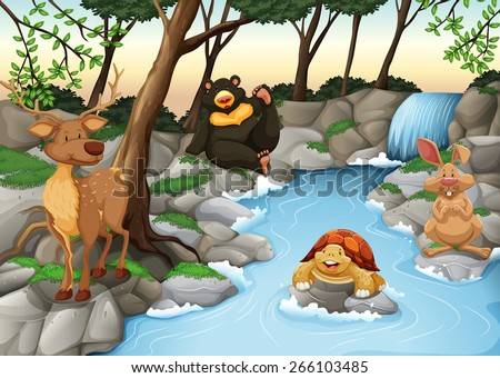 group of animals relaxing at