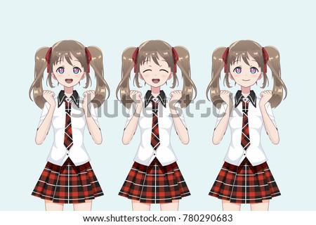 group of anime  manga  girls of