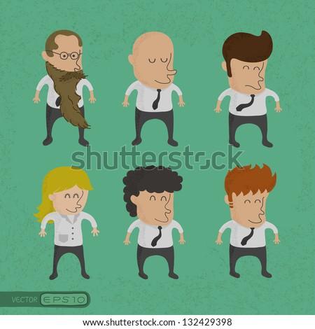 group of business men , women charactor, eps10 vector format - stock vector