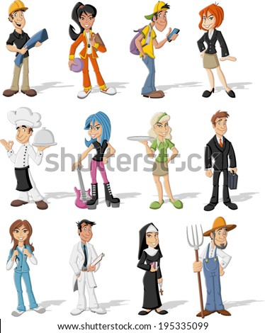 Group of cartoon business people Professionals