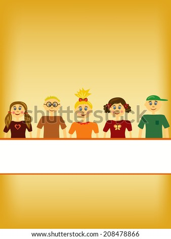 group of children illustration background #208478866