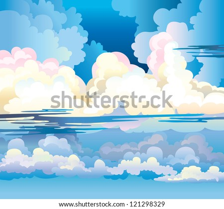 group of cumulus clouds on a