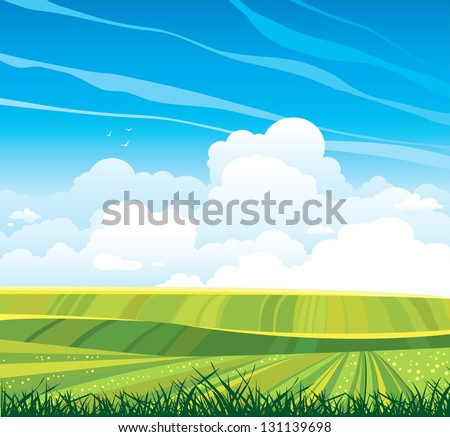 group of cumulus clouds on the