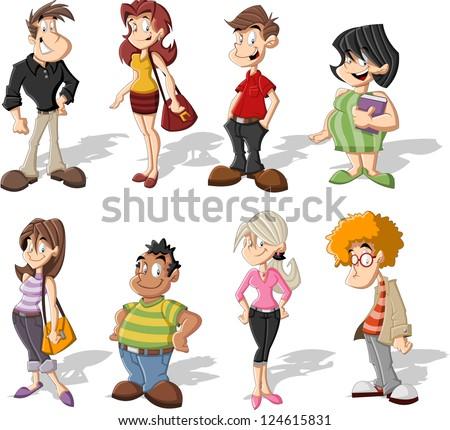 cute cartoons of people