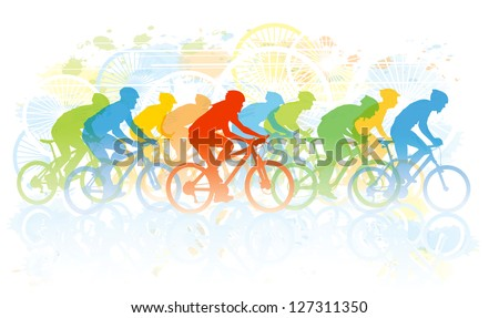 group of cyclist in the bicycle
