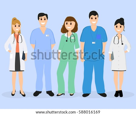 group of doctors in a hospital