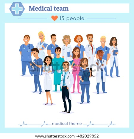 Vector Images Illustrations And Cliparts Group Of Doctors Nurses