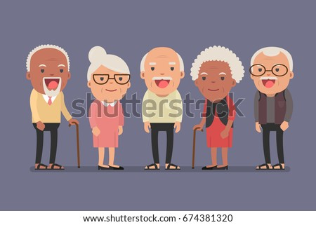 group of elderly people stand