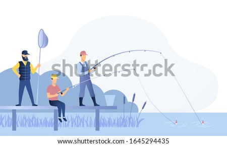 group of fishermen or anglers