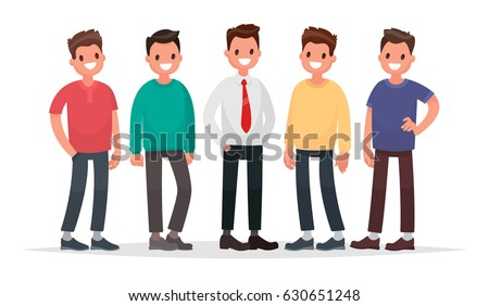 group of guys set of male