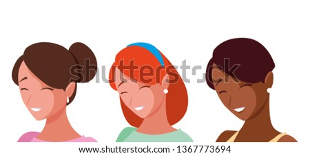 group of interracial girls