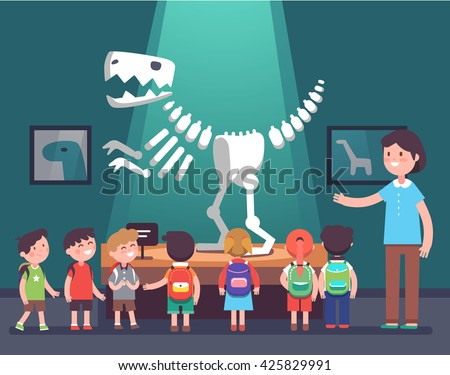 group of kids watching