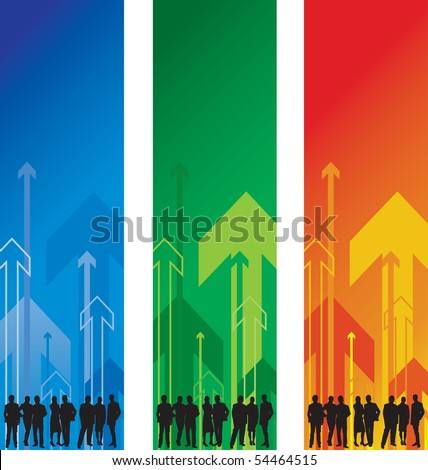 group of people abstract arrow background