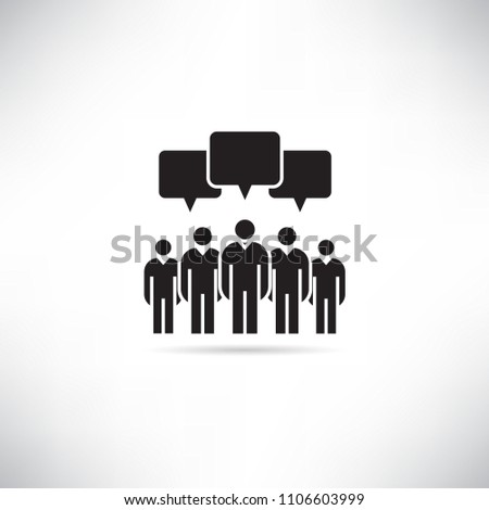 group of people and social network concept icon