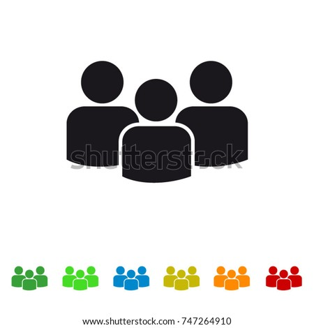 Group of people flat icon for apps and websites
