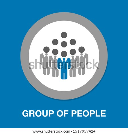 group of people icon - business communication icon, communication concept illustration