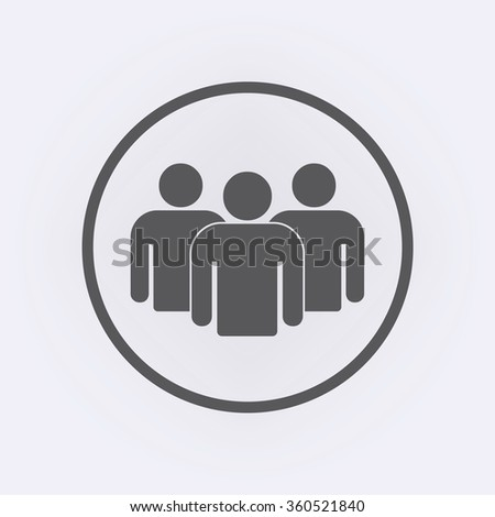 Group of people icon . People icon . Vector illustration