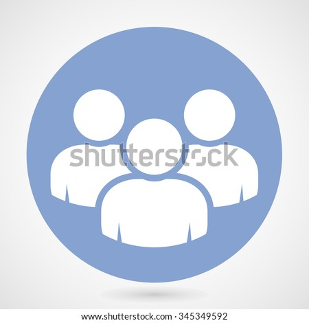 Group of people icon - teamwork or crowd