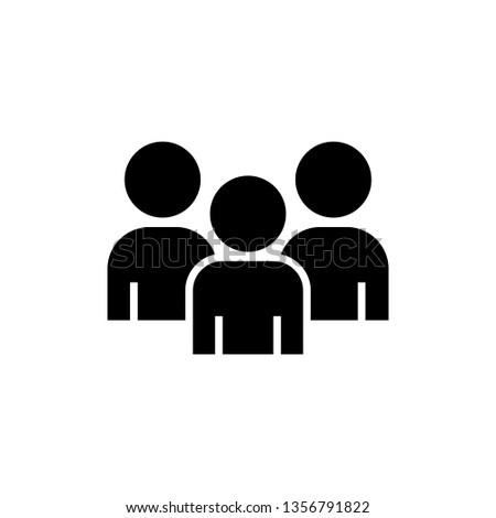 Group of people or group of users. Friends flat vector icon for apps and websites.