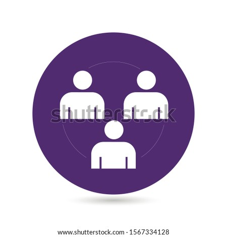 Group of people or group of users friends flat vector icon for apps and websites